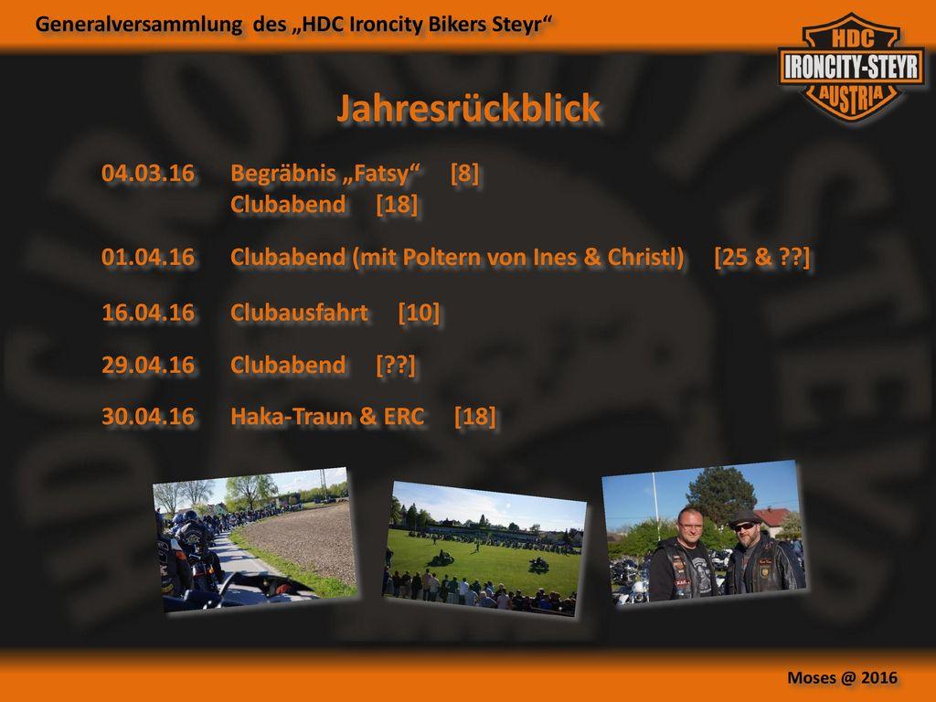 "Jahresrückblick 04.03.16 Begräbnis ""Fatsy [8] Clubabend [18]"